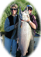 Lady Luck! 69 pound Kenai King